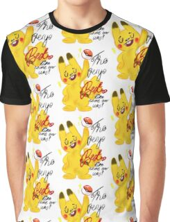 "Pokémon - Pikachu ""The very best like no one ever was"" cute design Graphic T-Shirt"