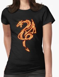 Dragon neon rouge 2 Womens Fitted T-Shirt