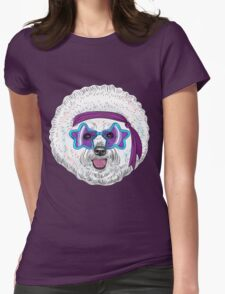 Star Disco dog Bichon Womens Fitted T-Shirt