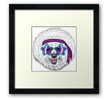 Star Disco dog Bichon Framed Print