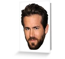 Ryan Reynolds Greeting Card