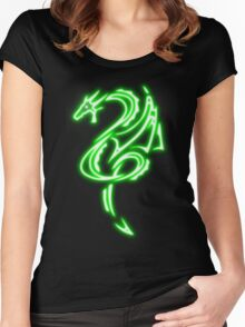 Dragon neon vert 2 Women's Fitted Scoop T-Shirt