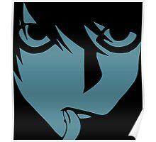 Ryuzaki from death note alias L Poster