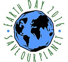Save Our Planet Earth Day Photographic Print