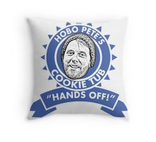 Hobo Pete's Cookie Tub - Blue Ribbon Throw Pillow