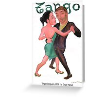 Tango milonguero by Diego Manuel Greeting Card