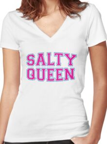 Salty Queen [Rupaul's Drag Race] Women's Fitted V-Neck T-Shirt