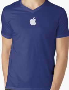 Apple logo - Blue Version Mens V-Neck T-Shirt