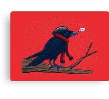 Annoyed IL Birds: The Crow Canvas Print