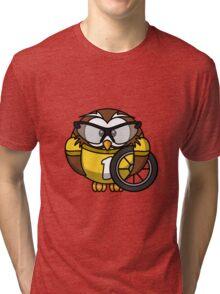 Cyclist Owl Tri-blend T-Shirt