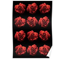 A Dozen Red Roses Poster