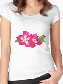 Beautiful flowers, nature pattern Women's Fitted Scoop T-Shirt