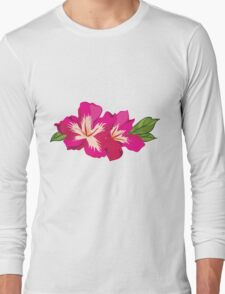Beautiful flowers, nature pattern Long Sleeve T-Shirt