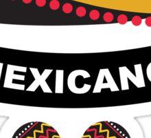 Crazy mexican sombrero Sticker