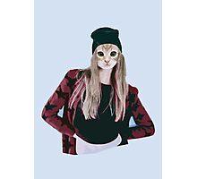 Hipster Ginger Kitten Photographic Print