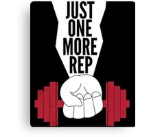 Just One More Rep Weightlifting Canvas Print