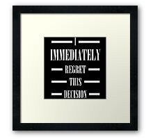 Anchorman Movie Quote Framed Print