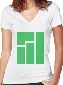 Manjaro logo Women's Fitted V-Neck T-Shirt
