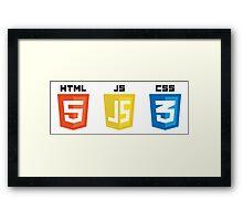 HTML JS CSS Framed Print
