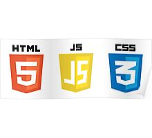 HTML JS CSS Poster