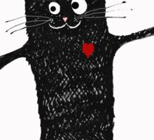 Free hugs, black cat cartoon, humor Sticker