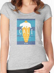 Hermosa Beach - California. Women's Fitted Scoop T-Shirt