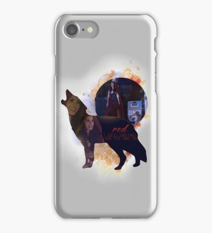 Red OUAT - Wolf iPhone Case/Skin