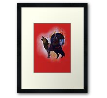 Red OUAT - Wolf Framed Print