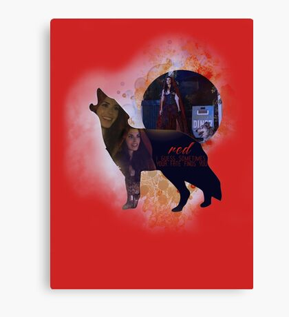 Red OUAT - Wolf Canvas Print