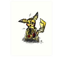 Steampunk Pikachu Art Print