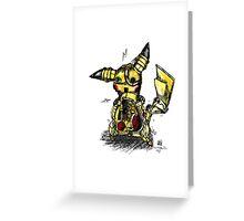 Steampunk Pikachu Greeting Card