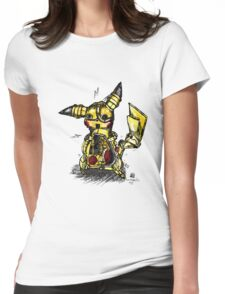 Steampunk Pikachu Womens Fitted T-Shirt