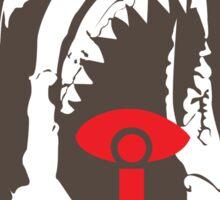 Red Eyed Jaws Sticker