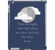 Moon Howl quote by George Carlin iPad Case/Skin