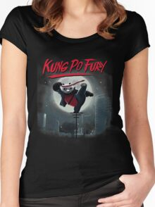 Kung Po Fury Women's Fitted Scoop T-Shirt