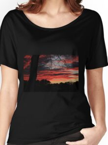 The Lava Sky  Women's Relaxed Fit T-Shirt