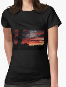 The Lava Sky  Womens Fitted T-Shirt