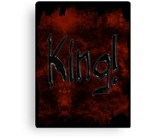 Grunge King Typography Canvas Print