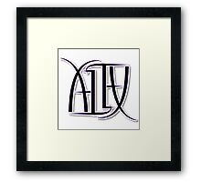 """Alex"" Ambigram (reversible image) Framed Print"