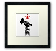 Raised Fist of Protest - Working Class Framed Print