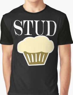 Stud Muffin Cute Funny Cupcake,geek,geeky,funny Graphic T-Shirt