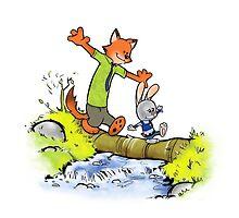 Rabbit & Fox by Ruwah