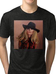Brigitte Bardot Painting Tri-blend T-Shirt