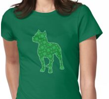 St. Patrick's Shamrock Pitbull Womens Fitted T-Shirt