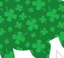 St. Patrick's Shamrock Pitbull Sticker