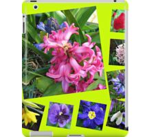 Crazy Spring Flowers Collage iPad Case/Skin