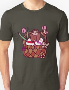 Easter Basket Sloth Unisex T-Shirt