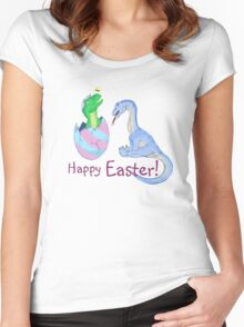 Easter Dinos Women's Fitted Scoop T-Shirt