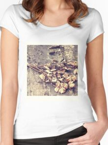 In the rain - two Women's Fitted Scoop T-Shirt