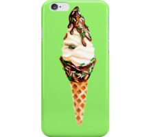 Soft Serve Ice Cream Dipped in Chocolate Fudge with Sprinkles iPhone Case/Skin